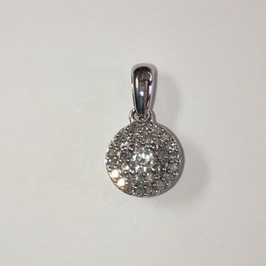 Jewelry - 10K White Gold 1/3TCW Diamond Pendant for Necklace
